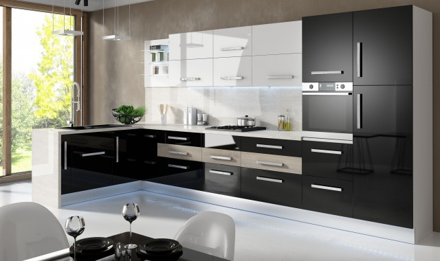 modele de cuisine moderne en aluminium. Black Bedroom Furniture Sets. Home Design Ideas